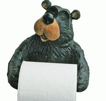 bear toilet paper holder best black bear bathroom accessories and sets decor