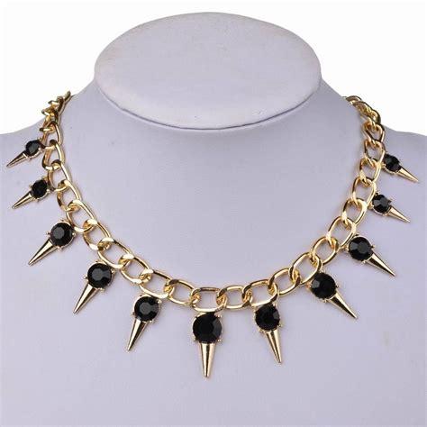 Square Maxi Br Cc79 maxi colar spike gargantilha dourado gotico cristal r 35 90 em mercado livre