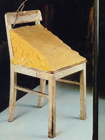 Stuhl Mit Fett by Joseph Beuys Chair 1964 Sculpture
