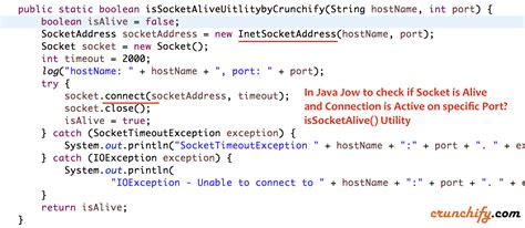 java pattern hostname in java how to check if socket is alive connection is