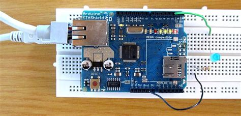 tutorial arduino web server led control with arduino ethernet shield web server