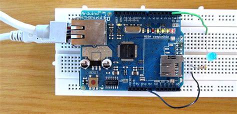 tutorial web server led control with arduino ethernet shield web server