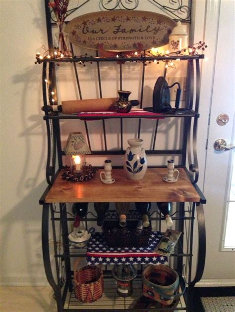 17 best ideas about bakers rack decorating on