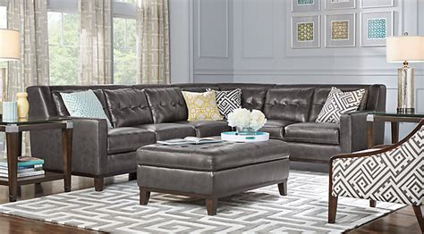 living room sets gray leather living rooms sets 2 3 5 7 pieces