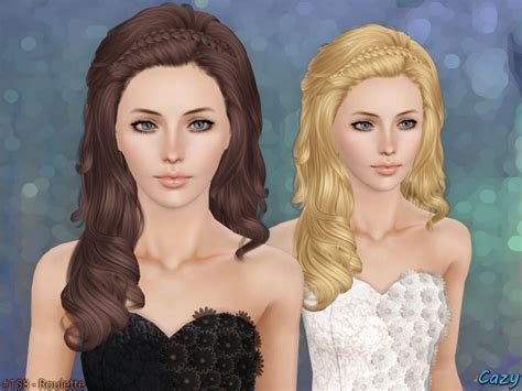 sims 3 resource hair cazy s roulette hairstyle set