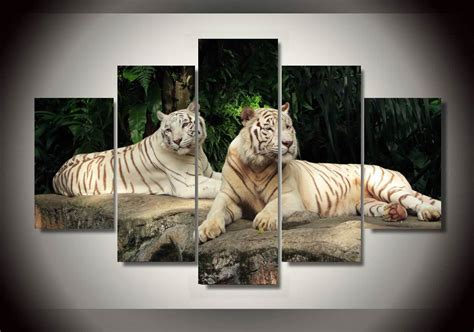 white tiger bedroom decor aliexpress com buy framed printed white tiger landscape