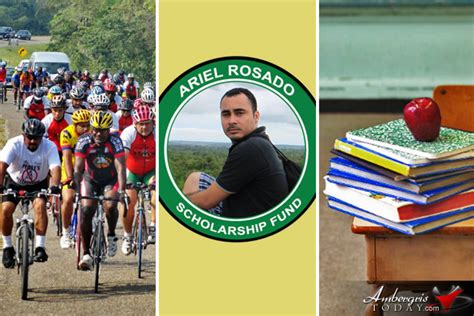 Scholarship Giveaway - ariel rosado annual bike ride and scholarship giveaway ambergris today breaking