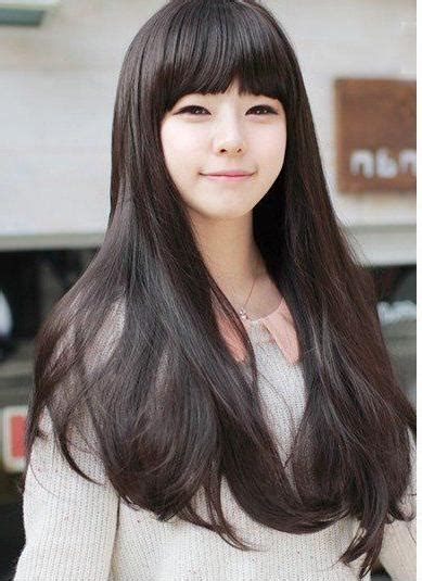 2019 popular korean hairstyles for girls with long hair