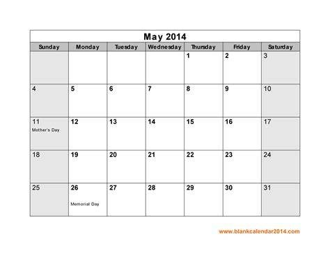 8 best images of may 2014 printable calendar may 2014
