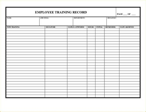 Training Records Template 69 Infantry Safety Shoe Program Template