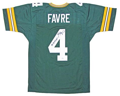brett favre jersey brett favre autographed green bay packers green football jersey da card world