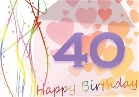 40th birthday card template printable 40th birthday card