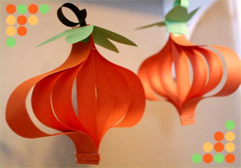 Construction Paper Pumpkin Crafts - crafts and recipe s