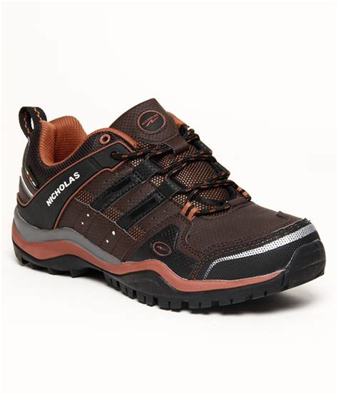 nicholas sport shoes buy nicholas brown hiking sport shoes for snapdeal
