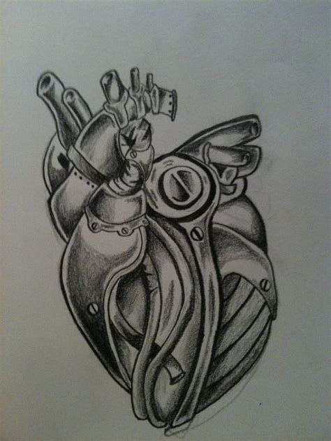 mechanical heart tattoo designs biomechanical www pixshark images