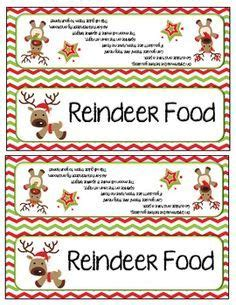 printable label for reindeer food my heart sven frozen and the o jays on pinterest