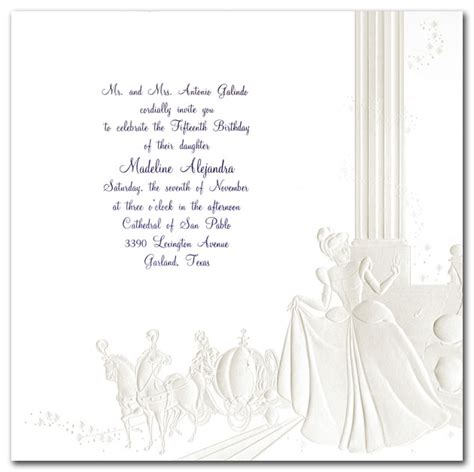 sweet 15 invitations cinderella