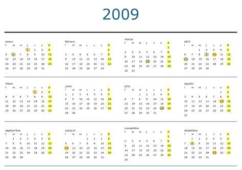 Calendario Laboral 2006 Calendario Laboral 2009