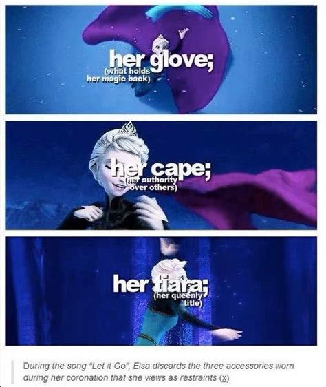Elsa Frozen Meme - analysis of let it go the three objects that elsa sheds