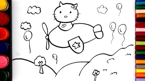 hello kitty coloring pages youtube how to draw hello kitty step by step coloring pages for