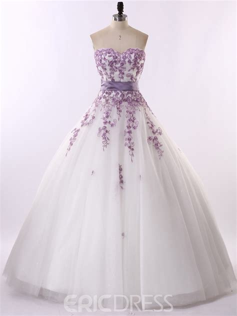 colorful wedding dresses ericdress colorful appliques gown sweetheart