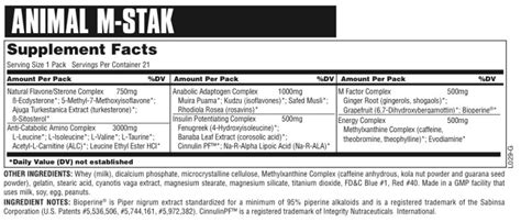m stak supplement animal m stak reviews universal nutrition