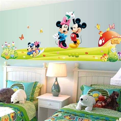 mickey and minnie mouse home decor hot mickey mouse minnie vinyl mural wall sticker decals