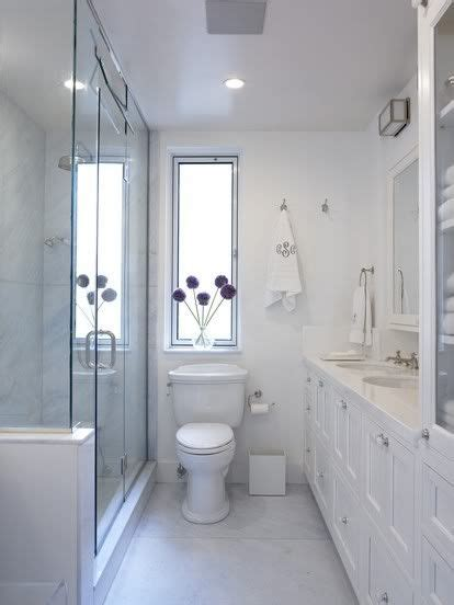 narrow bathroom designs long narrow home ideas pinterest