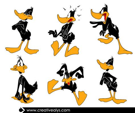 funky daffy duck cartoon pack vector download