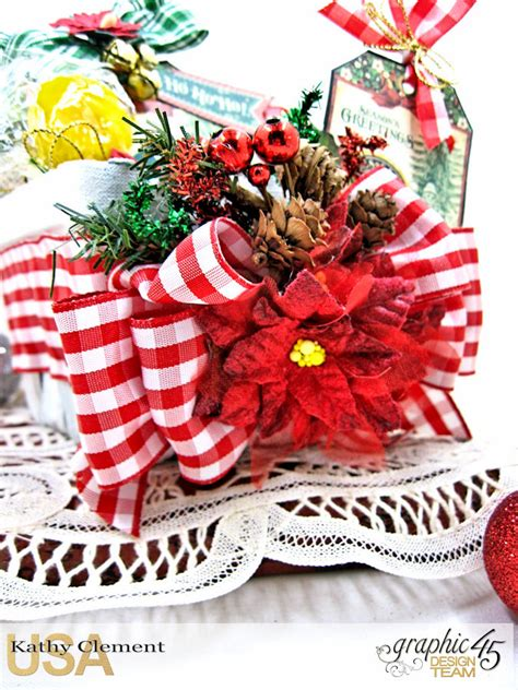 Aaaah All Settled by Lollipop Tag Basket With Graphic 45 St Nicholas Kathy By