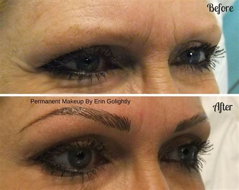 should you tattoo your eyebrows before and after hairstroke eyebrows using the