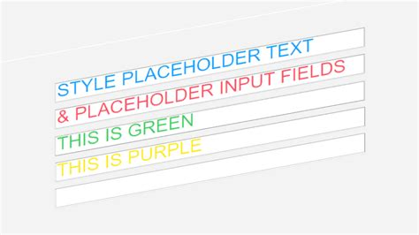 placeholder color css the css placeholder color of an html input field