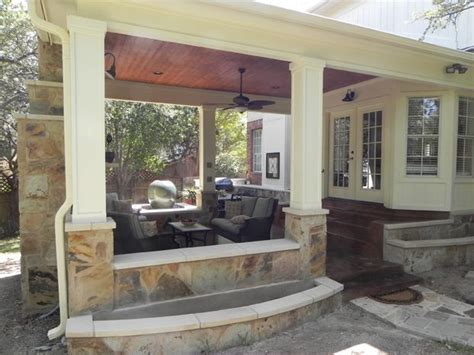 Outdoor Covered Patio by Covered Patio With Fireplace Austin Covered Patio With
