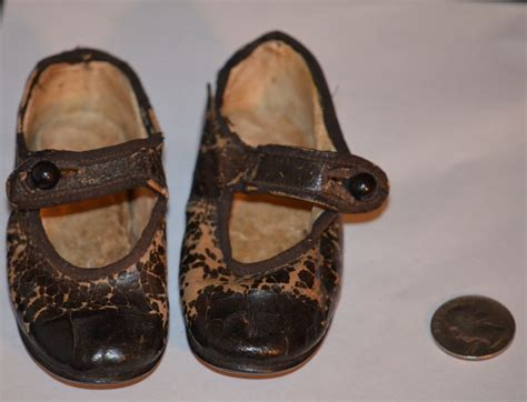 antique bisque doll leather antique doll shoes leather adorable for bisque doll from
