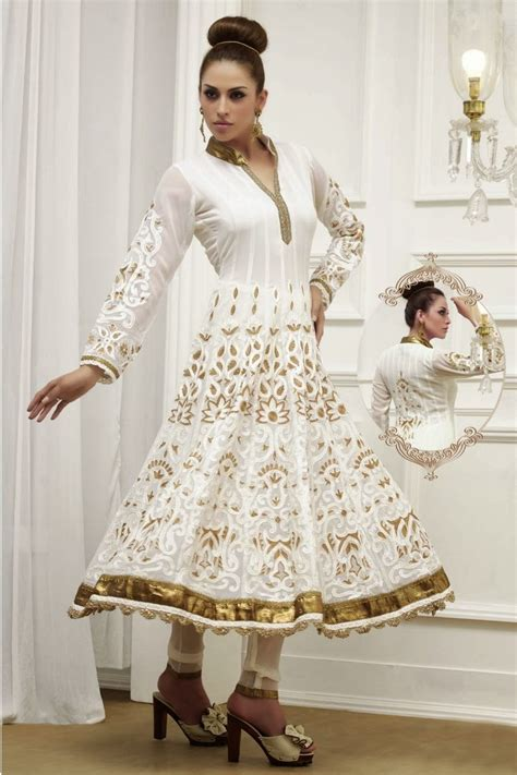 white anarkali white anarkali 2014 15 fncy anarkali dresses images