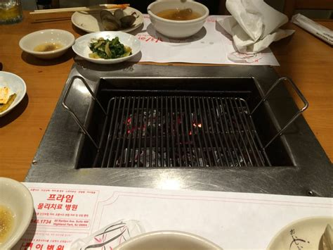 japanese restaurant cook at table the grill you get at your table to cook your own meal