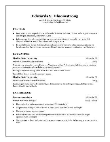 traditional elegance free resume template by hloom basic resume template
