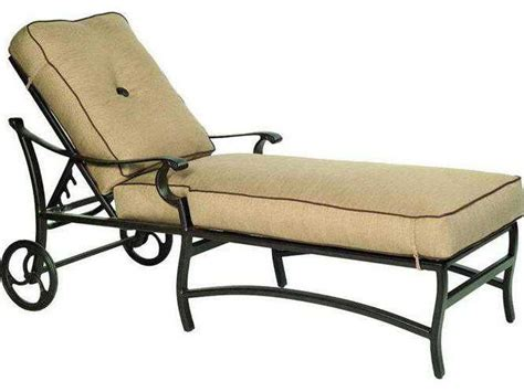 metal chaise lounge with wheels castelle monterey cushion aluminum adjustable chaise