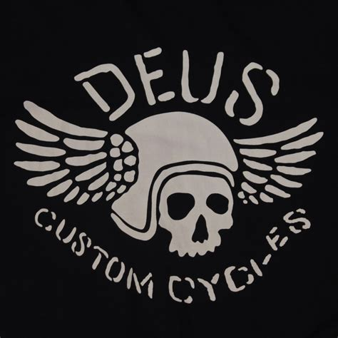 Deus Cycles Tshirt deus ex machina icarus flying skull s black white