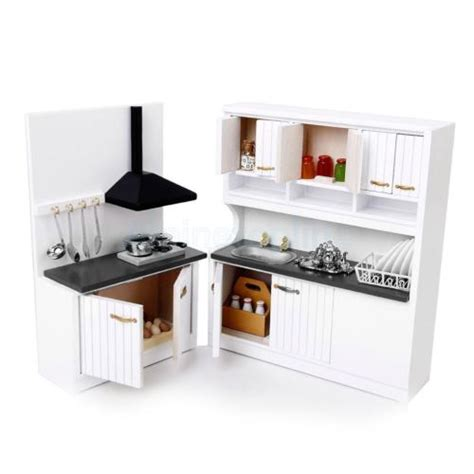 dollhouse furniture kitchen miniature furniture wooden kitchen stove cabinet set for