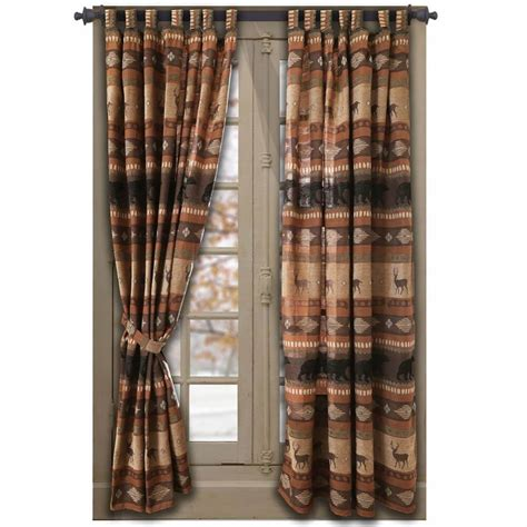 Rustic Curtains And Drapes Deer Meadow Window Treatments Cabin Place