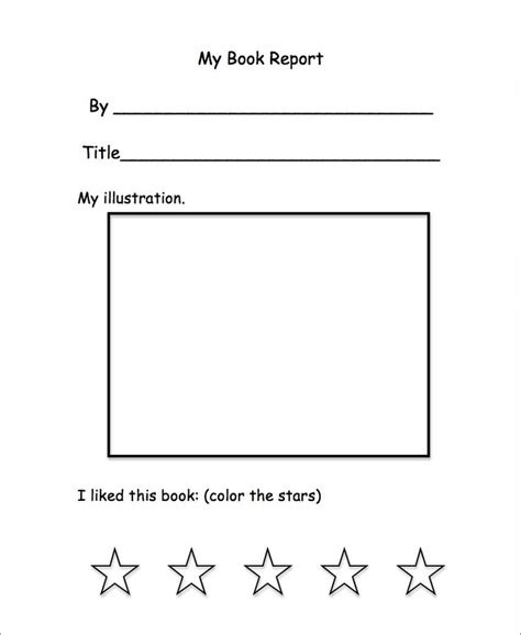book report for kindergarten preschool book report classroom