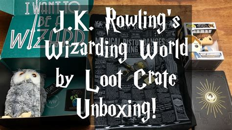 j k rowlings wizarding 1406377031 november 2016 j k rowling s wizarding world by loot crate unboxing harry potter fantastic