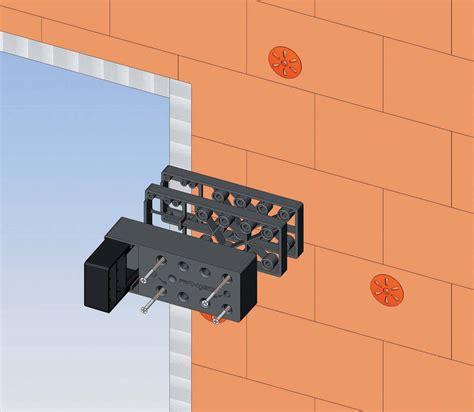 montaggio persiane elemento di montaggio cardini esinplast con tassello