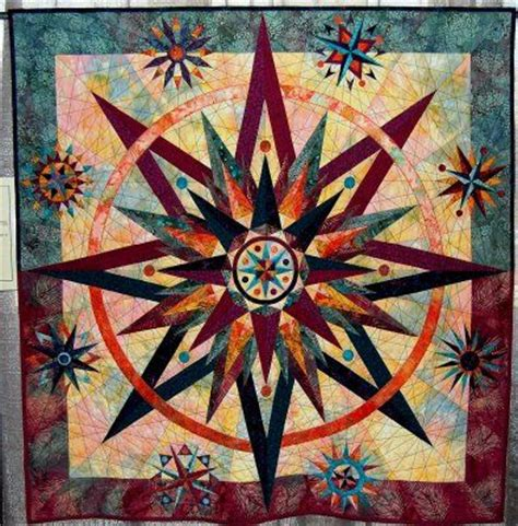 quilt pattern mariner compass mariner s compass star quilt lovely interpretation