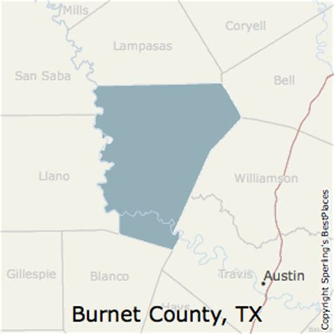 burnet county texas map best places to live in burnet county texas