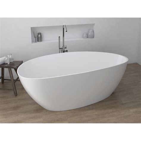 baignoire 238 lot ovale l 170x l 77 cm blanc stori leroy merlin
