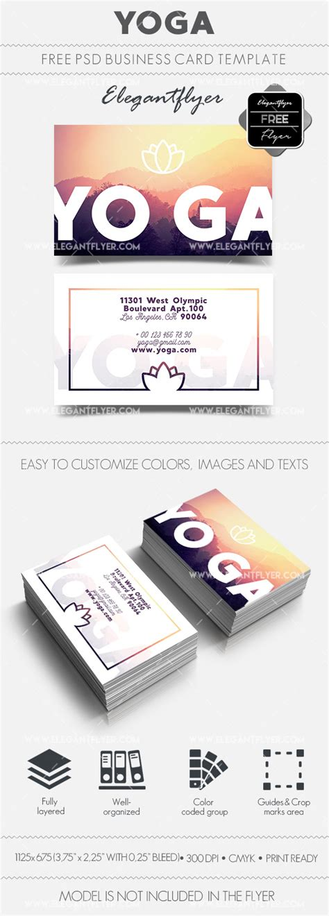 business card templates for yoga yoga free business card templates psd by elegantflyer