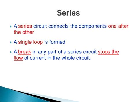 what is the meaning of circuit series and parallel circuit