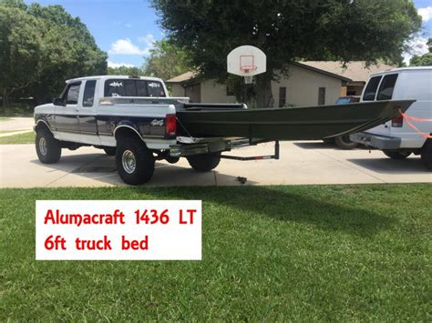 boat truck bed jon boat 2017 guide alumacraft or tracker jtgatoring